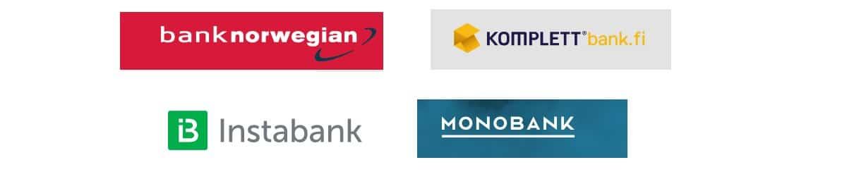 Vuonna 2018 Suomessa toimii neljä norjalaistaustaista pankkia.