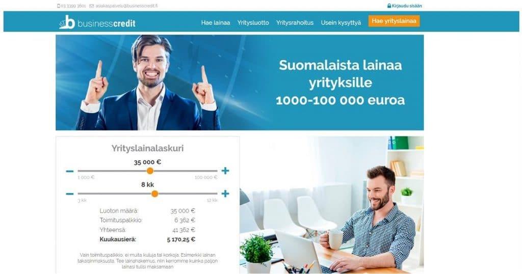 Millaisia kokemuksia yrittäjillä on Business Credit yrityslainasta?