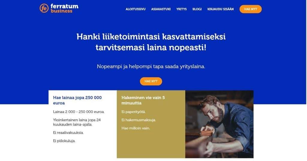Positiivisia Ferratum Business kokemuksia löytyy Suomesta tuhansittain.