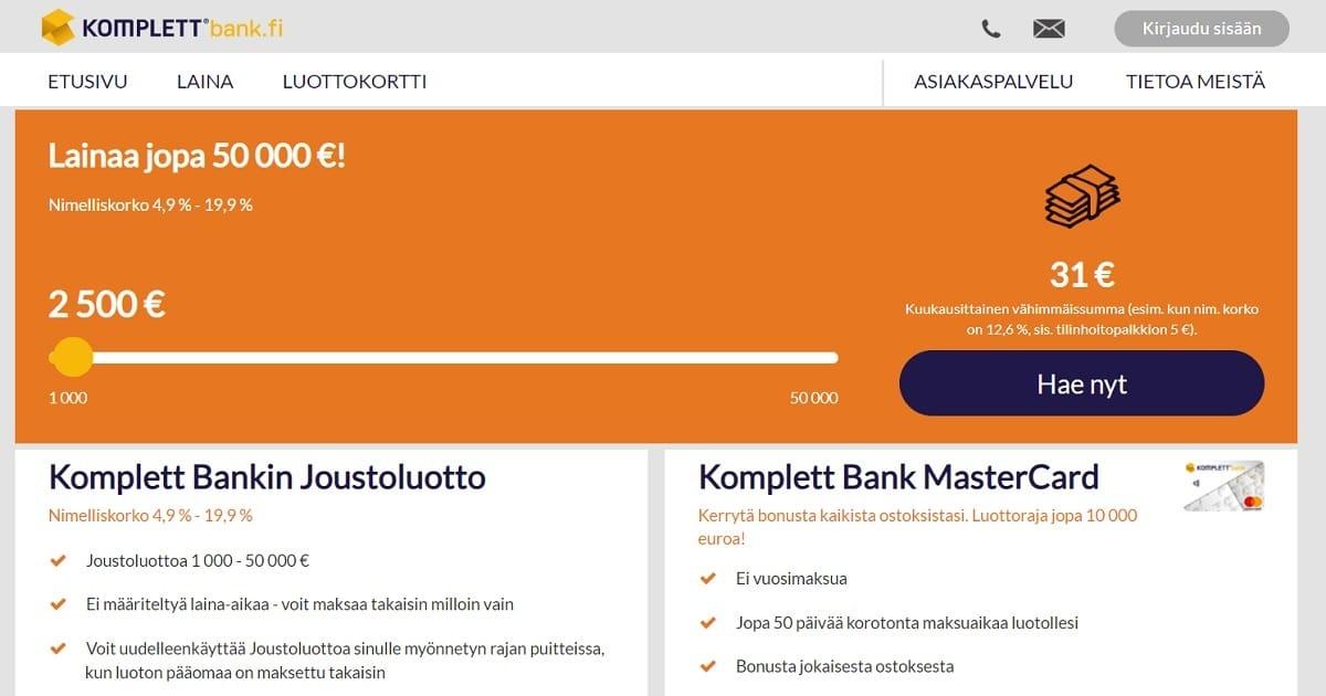 Millaisia kokemuksia Komplett Bank joustoluotosta ja lainojen yhdistämisestä löytyykään?