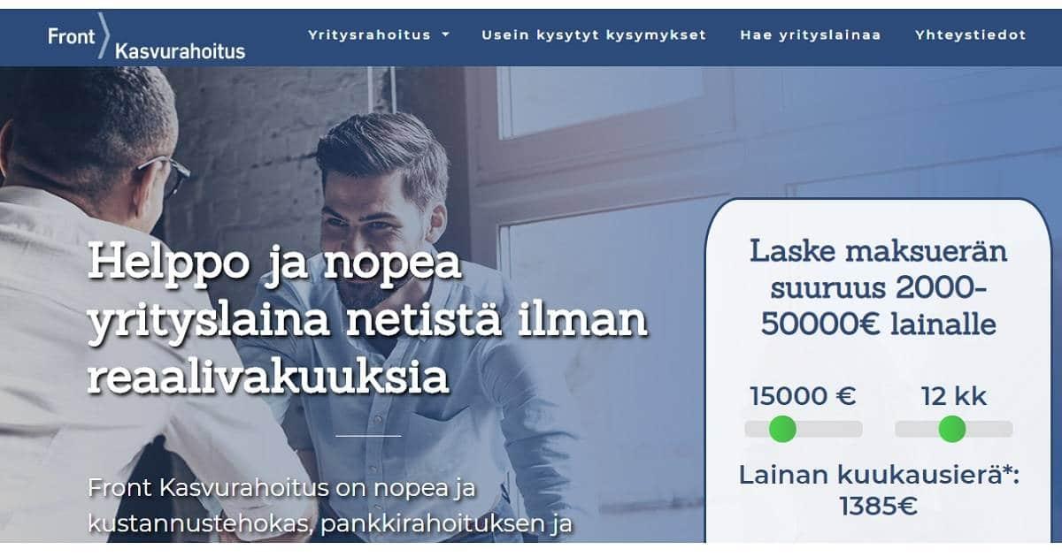 Kokemuksia Front Kasvurahoituksesta kertynee vuoden mittaan lukuisille suomalaisille pienyrityksille.