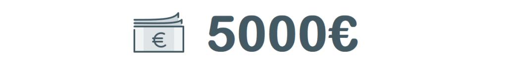 5000 euron lainoja käsittelevän artikkelin kuvituskuva.