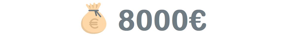 Kuvituskuva artikkeliin, jossa tarkastellaan 8000 euron lainoja myöntäviä pankkeja ja rahoitusyhtiöitä.